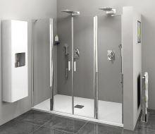 Polysan ZOOM LINE sprchové dveře s pevnými segmenty, čiré sklo