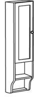 Sapho RETRO skříňka k zrcadlu 25x115x20cm, starobílá, levá
