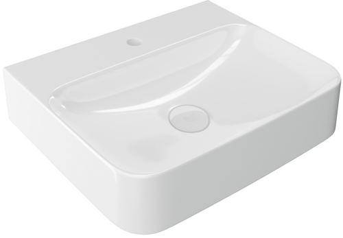 Umyvadlo závěsné/na desku ORIDO 60X47X13,5 cm bílé