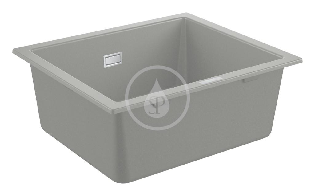 Grohe Dřezy Kompozitní dřez K700 s odtokem, 533x457 mm, granitová šedá