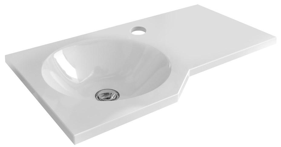 Závěsné umyvadlo Be Spot 60x34,5x80 cm bílé