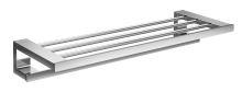 Emco Loft polička na osušky 60 cm chrom se 3 bílými háčky