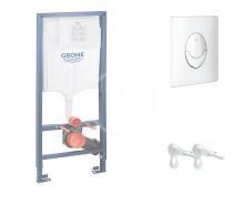 Grohe Rapid SL Předstěnový instalační set pro závěsné WC, výška 1,13 m, ovládací tlačítko Skate Air, chrom