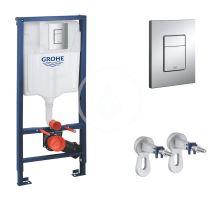 Grohe Rapid SL Předstěnový instalační set pro závěsné WC, výška 1,13 m, ovládací tlačítko Skate Cosmpolitan, chrom