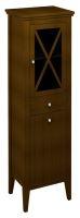 Sapho CROSS skříňka vysoká s prádelním košem 47x170x39cm, pravá, mahagon