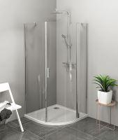 Polysan ZOOM LINE čtvrtkruhová sprchová zástěna, čiré sklo, pravá