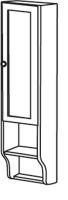 Sapho RETRO skříňka k zrcadlu 25x115x20cm, starobílá, pravá