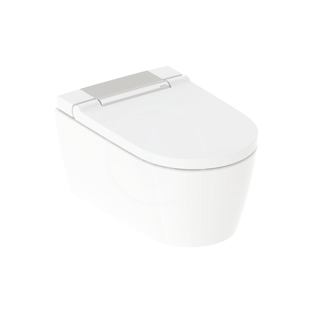 Geberit AquaClean Elektronický bidet Sela s keramikou, závěsný, Rimfree, SoftClosing, lesklý chrom