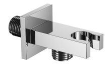 Držák ruční sprchy s vývodem vody hranatý chrome