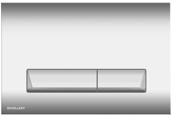 Tlačítko k WC PLATTO chrom