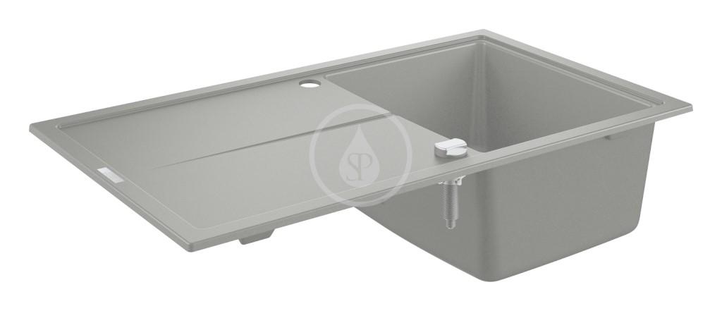 Grohe Dřezy Kompozitní dřez K400 s automatickým odtokem, 860x500 mm, granitová šedá