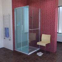 Polysan LUCIS LINE sprchová boční stěna 900mm, čiré sklo