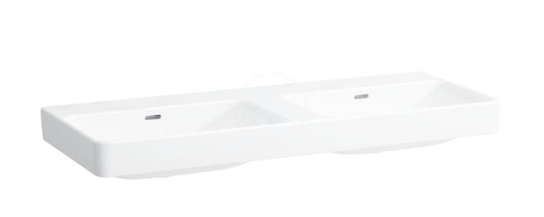 Laufen Pro S Dvojumyvadlo, 1200x465 mm, bez otvoru pro baterii, s LCC, bílá