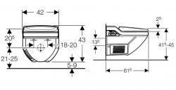 Duravit Inipi B Sauna – verze volně stojící 2365x1186x2130mm