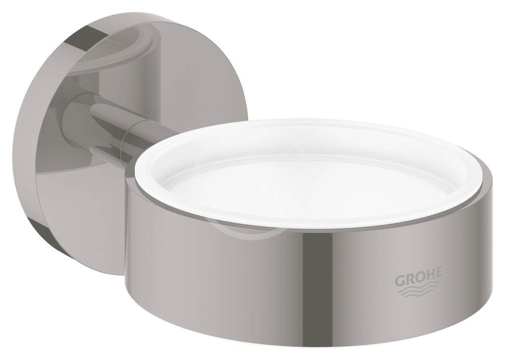 Grohe Essentials Držák skleničky/mýdelníku, tmavý grafit
