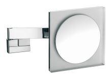 Emco Nástěnné kosmetické zrcátko s LED osvětlením 220 x 220 mm a integ. kabel., 5x