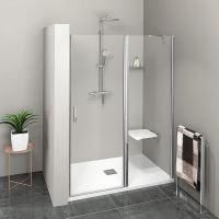 Polysan ZOOM LINE sprchové dveře s pevným segmentem, čiré sklo
