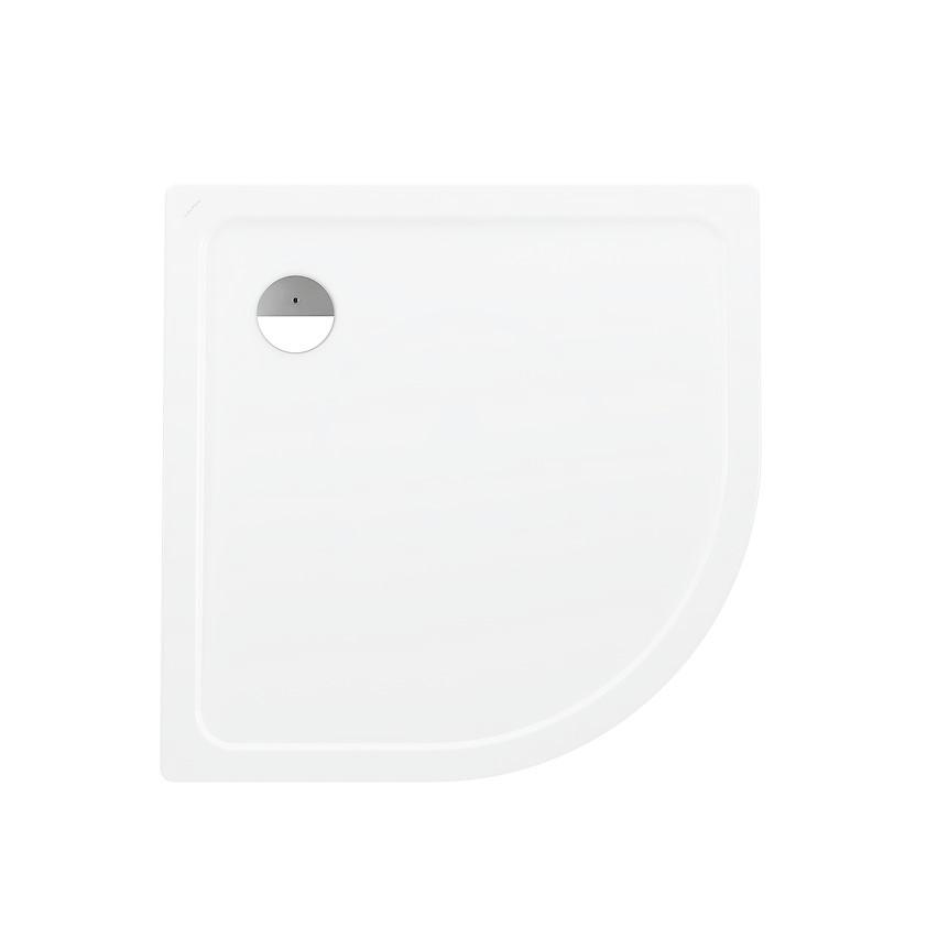 Laufen Platina Sprchová vanička čtvrtkruh, 900 x 900 mm - s protihlukovými podložkami, bílá
