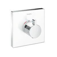 Hansgrohe Shower Select Glass Termostatická sprchová baterie HighFlow pod omítku, bílá/chrom