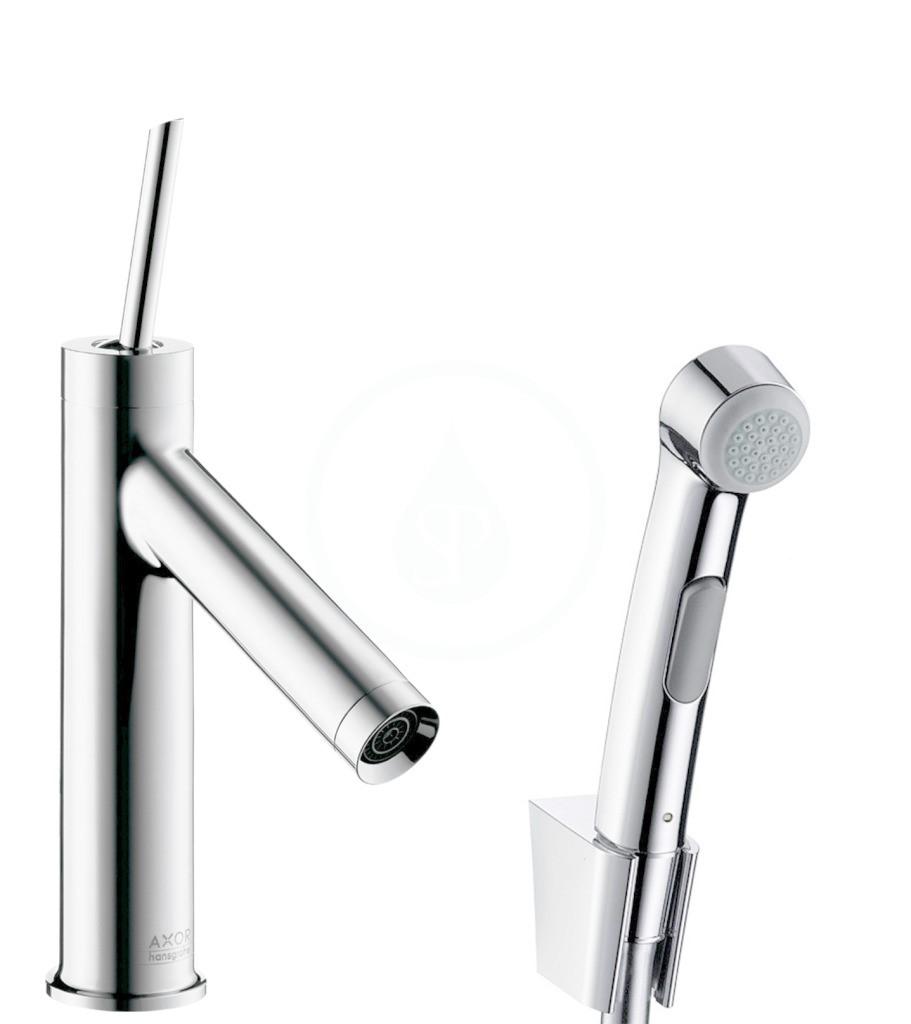 Axor Starck Souprava umyvadlové baterie s bidetovou sprškou a sprchovou hadicí, chrom