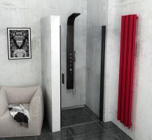 Polysan ZOOM LINE BLACK sprchové dveře celokřídlé, čiré sklo