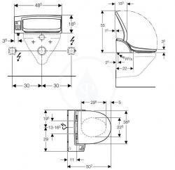 Duravit Inipi Sauna – volně stojící verze 3350x1170x2220mm