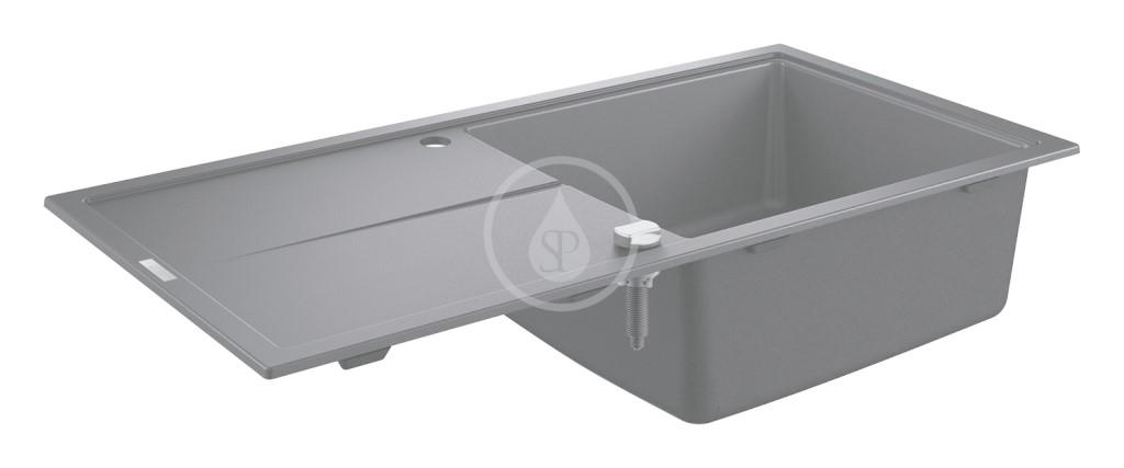 Grohe Dřezy Kompozitní dřez K400 s automatickým odtokem, 1000x500 mm, granitová černá