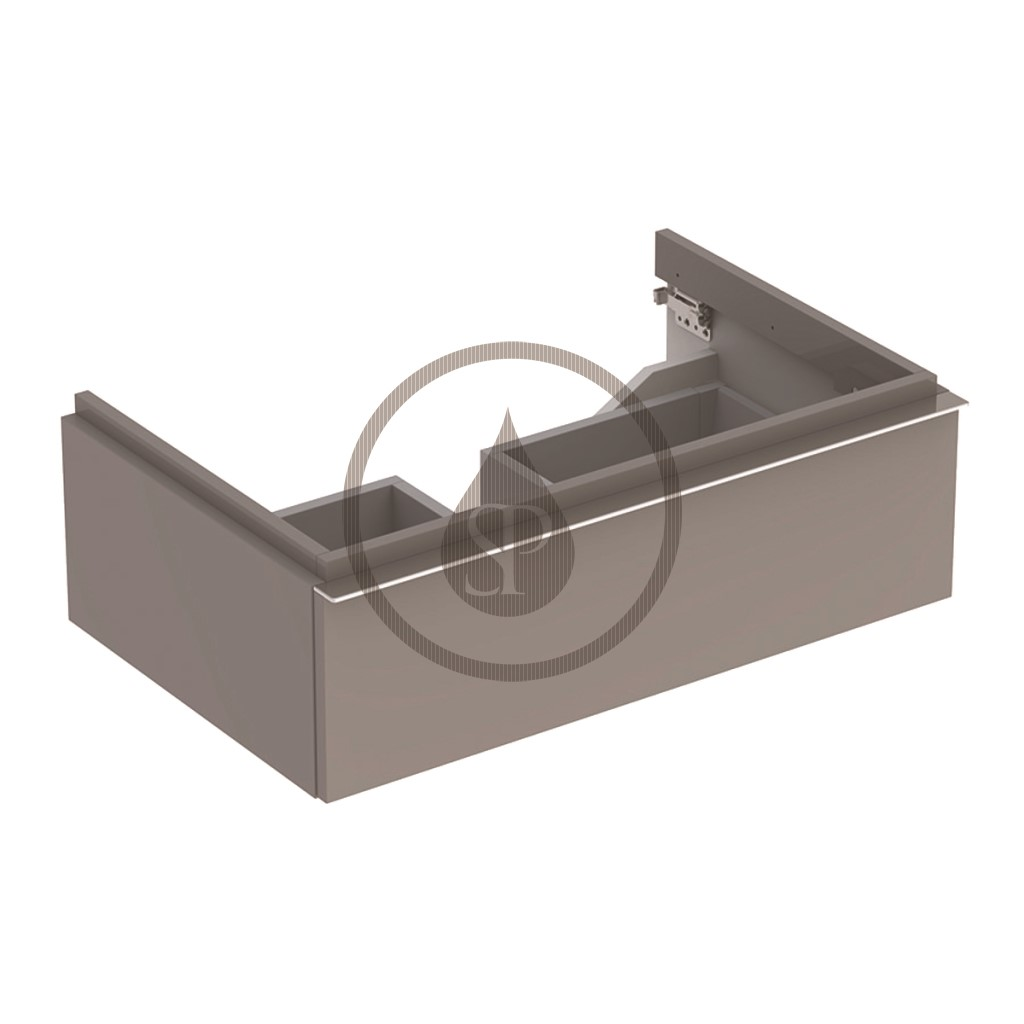 Geberit iCon Skříňka pod umyvadlo, 740x240x 477 mm, platinová lesklá