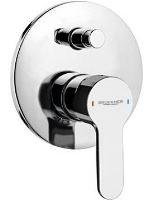 SIEGER podomítková sprchová baterie, 2 výstupy, chrom