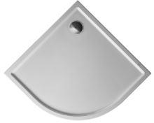 Duravit Starck sprchová vanička Slimline 900x900mm,čtvrtkruh R55,s Antislipem
