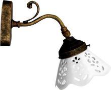 Sapho BARI svítidlo E14, 40W, 230V, keramické stínítko, bronz