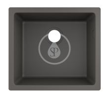 Hansgrohe Dřezy Podstavný granitový dřez S510-U450, kamenná šedá