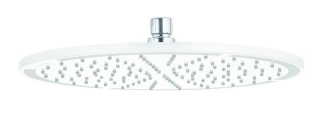 Kludi A-Qa Horní sprcha 300, 1 proud, bílá/chrom