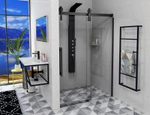 VOLCANO BLACK sprchové dveře, čiré sklo