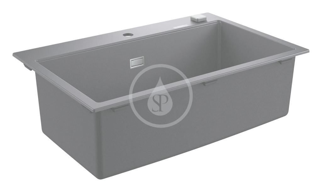 Grohe Dřezy Kompozitní dřez K700 s automatickým odtokem, 780x510 mm, granitová černá