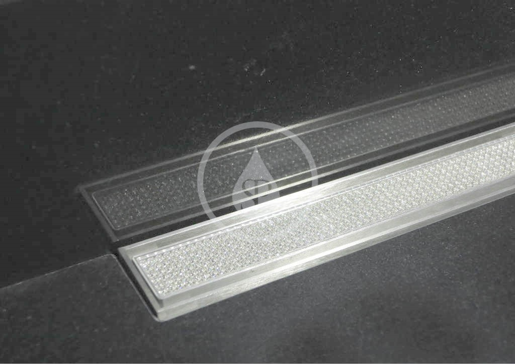 I-Drain Swarovski Nerezový rošt pro sprchový žlab, s krystaly Swarovski, délka700 mm