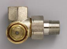 Zehnder přívodní ventil AV6 rohový úhlový pravý, niklovaný