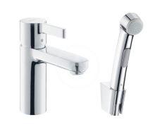 Hansgrohe Metris S Umyvadlová baterie s ruční sprchou Bidette, chrom