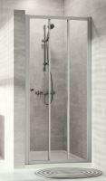 Hüppe Alpha 2 Posuvné dveře 2-dílné  s pevným segmentem pro niku nebo boční stěnu 800 mm