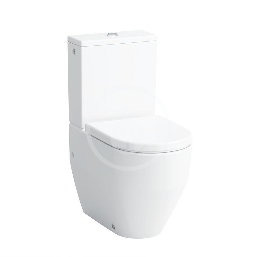 Laufen Pro Stojící WC kombi mísa, zadní/spodní odpad, boční přívod vody, bílá
