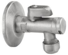 Rohový ventil s matkou, 1/2'x 3/8', nikl