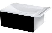 Sapho ZEUS umyvadlová skříňka vč. sifonu 60x26x45 cm, černá/titan alu