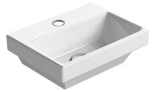 GSI NORM umývátko s otvorem, 35x12x26 cm, bílá