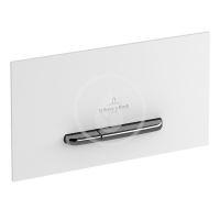 Villeroy & Boch ViConnect Ovládací tlačítko 300G, pro 2 množství splachování, lesklá bílá/kartáčovaná nerez