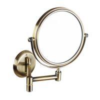 Kosmetické zrcátko zvětšovací, oboustranné, bronz