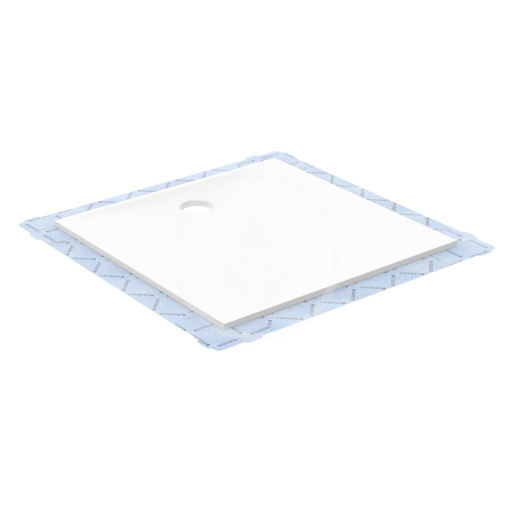 Geberit Setaplano Plochá sprchová vanička, minerální materiál, 800x800 mm, bílá