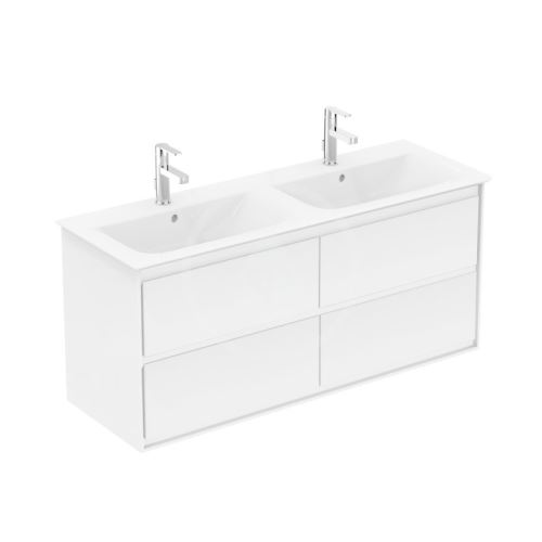 Ideal Standard Connect Air Skříňka pod dvojumyvadlo 1200 mm, lesklá bílá/matný bílý lak