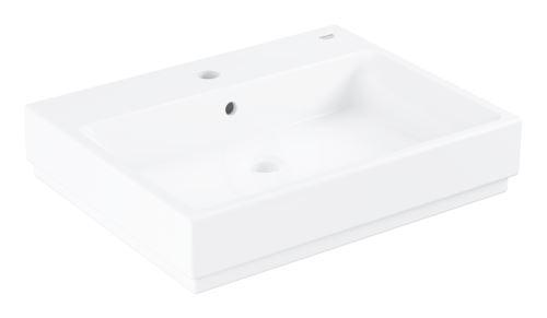 Grohe Cube Ceramic Umyvadlo s přepadem, 600x490 mm, PureGuard, alpská bílá